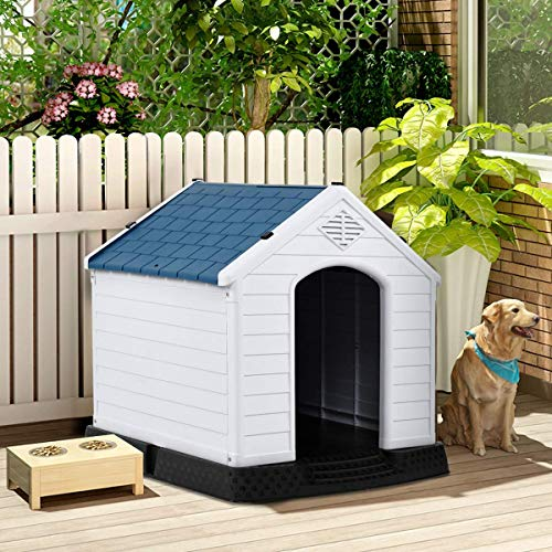 PETSJOY Dog House Waterproof with Elevated Floor and Air Vents...
