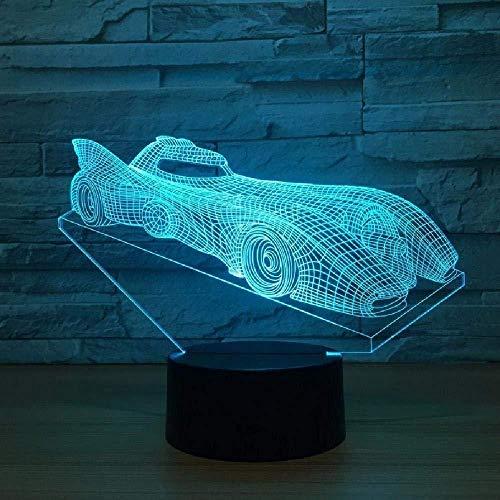 Ilusión Led 3D Modelo De Coche De Carreras Lámpara De Noche Usb Led Lámpara De Mesa Intermitente De 7 Colores Como Regalos Novedosos Luces Decoraciones De Habitación