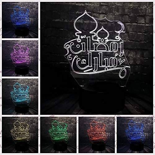 Nndxh Luz De Noche Led Decorativa Mujeres Musulmanas Ilusión Dormitorio Luz De Sueño 7 Cambio De Color Usb Recargable Con Pilas, Regalo Nuevo