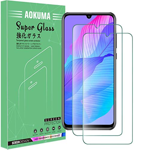 AOKUMA Glass for Huawei P Smart S Tempered Glass Screen Protector, [2 Pack] Premium Quality Guard Film, Case Friendly, Comfortable Round Edge,Shatterproof, Shockproof, Scratchproof oilproof