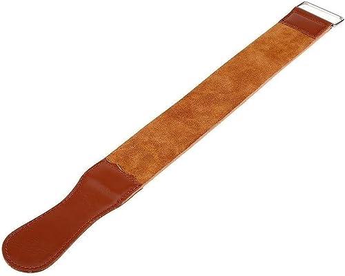 Straight Razor Strops Leather Sharpening Strap 18.5 Inches Straight Razor Blades Knife Sharpening Leather Honing Stro...