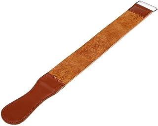 Straight Razor Strops Leather Sharpening Strap 18.5 Inches Straight Razor Blades Knife Sharpening Leather Honing Strop Tra...