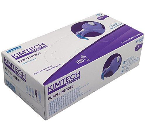 Kimtech Wissenschaft Nitril Handschuhe Lila - Große (100 Stück)