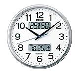 セイコークロック 掛け時計 04:銀色メタリック 01:直径35cm 電波 アナログ カレンダー 温度 湿度 表示 セイコーネクスタイム ZS250S