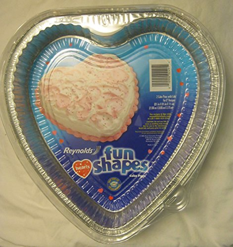 Reynolds Fun Shapes Hearts 2 Cake Pans with Lids for 8' Recipes