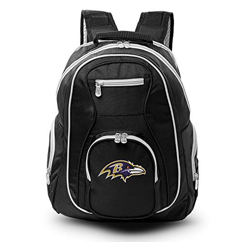 Denco Baltimore Ravens Laptop Backpack- Fits Most 17 Inch Laptops and Tablets - Ideal for Work, Travel, School, College, and Commuting