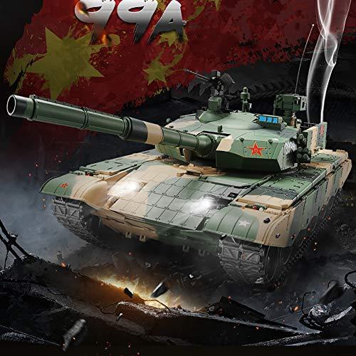 Deliya RC Ferngesteuerter China 99A Panzer-Modell Metallgetriebe, Schuss, Sound, Rauch, Beleuchtung Und 2.4Ghz, Maßstab 1:16,Battery*1