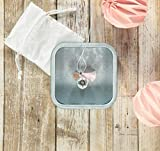 Collier de grossesse Bola en quartz rose/rose