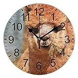 SENNSEE - Reloj de Pared con diseño de Alpaca, Funciona con Pilas, para decoración del hogar, único