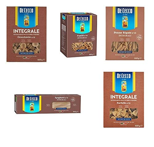 Testpaket De Cecco Pasta integrale Vollkornnudeln 500g (5 x 500g)