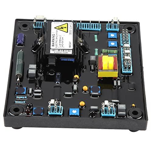 Regulador de voltaje, regulador de generador, 1 pieza MX341 AVR Regulador de voltaje automático Controlador de generador, piezas de grupos electrógenos 170-220 V CA trifásico 3 A (PMG)