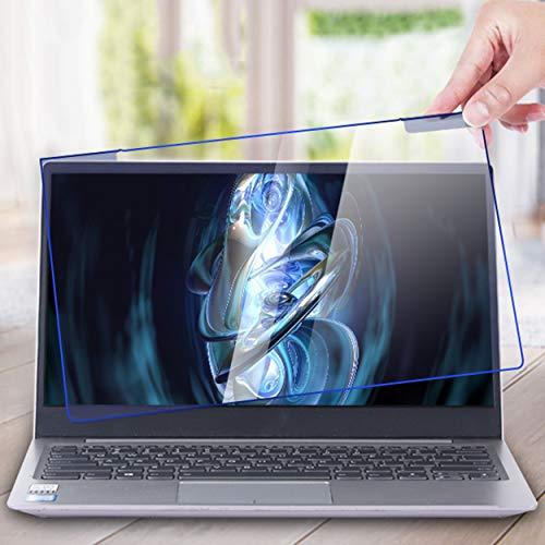 Bueuwe Colgar fácil Panel Protector de Pantalla de Bloqueo de luz Azul para una computadora portátil de 12-17 Pulgadas Película Protector Anti Stain Anti Scratch Pantalla,15.4' 360 * 240mm