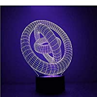 カラフルな3DLEDナイトライトハートナイトライトアイケアライトベッドサイドナイトランプホームデコレーションバースデーギフト