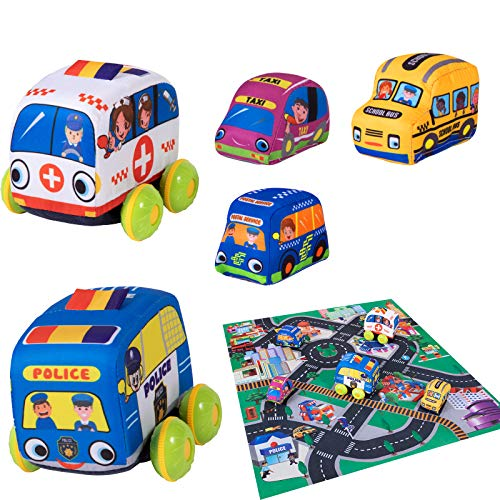 Tovol Zerky Soft Cars with Play Mat…