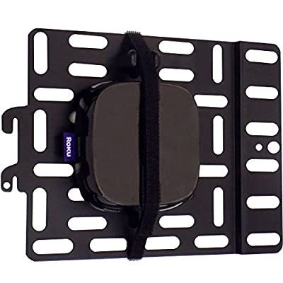 Universal Streaming Device Mount Holds Media Devices Up to 3lbs Securely Behind Flat Screen TVs - Compatible with Apple TV, Roku, Amazon Fire TV, TiVo Mini, and More - ECHO-SDMU-B2