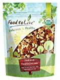 Organic Raw Nut and Berry Superfoods Snack Trail Mix by Food to Live (Non-GMO, Vegan, Unsweetened, Unsulfured) — 1 Pound