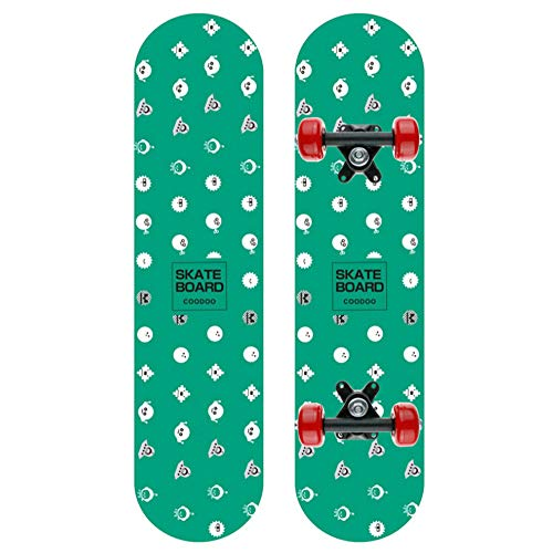 ZO MEBER Skateboard 7 Schichten Decks 60cm X 15cm Komplette Skateboard Ahorn Holz Longboards Für Anfänger Mädchen Jungen Kinder