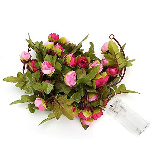 HERCHR Luces de Flores, Guirnalda de Luces de Rosas, Luces Decorativas para San Valentín, decoración Interior de jardín de Fiesta de Dormitorio de Boda