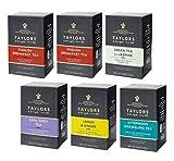Taylors Mix: 2 colazione inglese, 1 tè nero al bergamotto, 1 tè nero Darjeeling, 1 tè verde al gelsomino, 1 infuso di limone e zenzero - 6 x 20 bustine di tè (280 grammi)