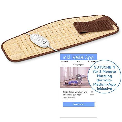 Beurer HK 49 Cosy Bauch-Rücken Heizkissen mit Kaia App zur ganzheitlichen Therapie gegen Rückenschmerzen