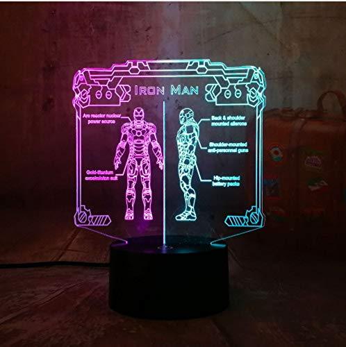 LIUJINHAI Lámpara de Mesa de Doble Color de la Mezcla de la luz de la Noche de 3D RGB LED Decoración casera