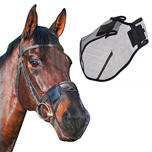 Fliegenschutz Für Pferde Atmungsaktiv Fliegenfester Pferdenasenfilter Horse Fly Mask Schutz Der Nase Vor Störungen Fliegenmaske Mit Klettverschluss Schnallt Die Pferdeleine Fest Pferdemaske
