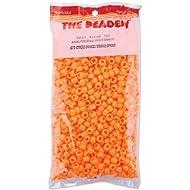 The Beadery 6 by 9mm Barrel Pony Bead, Orange, 900-Pieces