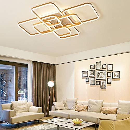 ZCCL Lámpara de Dormitorio Principal, lámpara de Techo led Cuadrada de Arte nórdico Minimalista Moderno, lámpara de habitación con Personalidad Creativa para el hogar (6 Cabezas)
