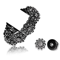42/44MM Only-Midnight Black-Floral Apple Watch Band
