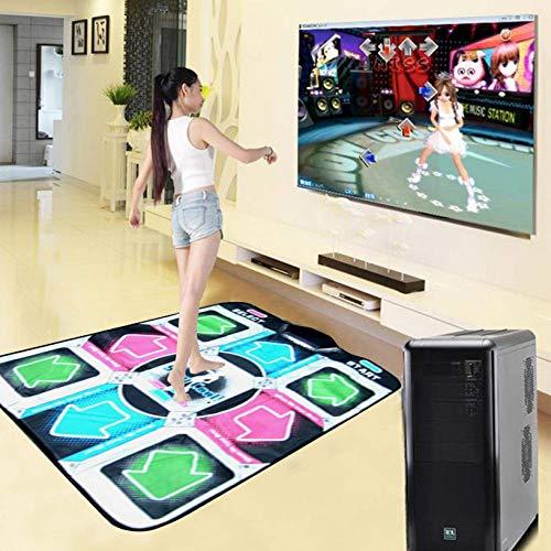 YLKCU Alfombrilla de Baile para una Sola computadora, Alfombrilla de Baile Especial para computadora USB con Cable, Alfombrillas de Baile para Adultos y niños, Manta de Juego de Yoga