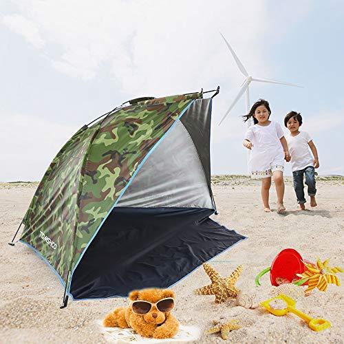 HYSJLS Deportes al Aire Libre Sombrilla Carpa for la Pesca de Picnic Beach Park Namiot Barraca Tela Anti-Mosquitos Tiendas de campaña Anti-UV Protección (Color : Camouflage)