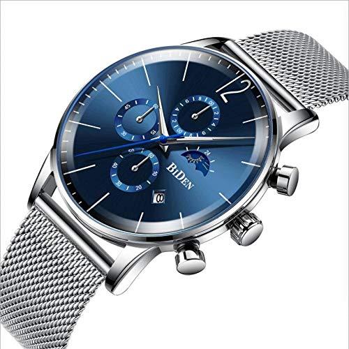 Sunhao mannenhorloge minimalistisch kwartshorloge slim simpel elegant business mode mannen 's watch waterdicht timing date vaderdagIft