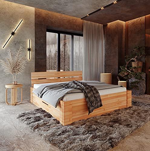 Krok Wood Massivholzbett ELSA in Buche (Bett, 180 x 200 cm)