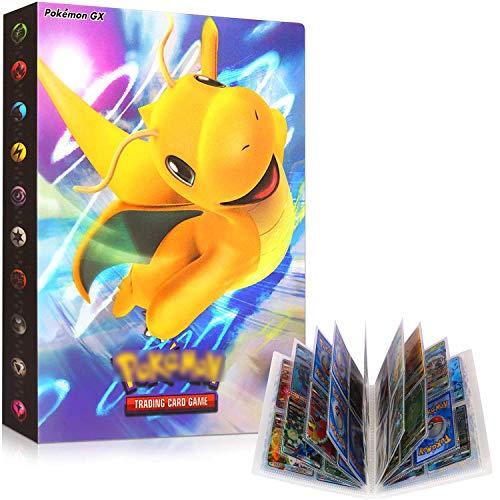 Sammelkarten, Karten Album, Karten Halter, Bester Schutz für Pokemon Sammel Karten GX EX Karten Album, 30 seitig Kann bis zu 240 Karten aufnehmen (kuailong)