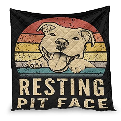 Yzanswer Algodón Pesado Mantas/Quilts RESTING Funny Dog Microfiber Sleeping Blanket para verano blanco 180x200cm
