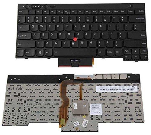 Laptop Keyboard New Laptop Keyboard Replacement for Lenovo IBM Thinkpad W530 T530 T530S T530i T430 T430S T430i X230 X230T X230I Series P/N: 04X1201 0C01885 CS12-84US, US Layout Black Color
