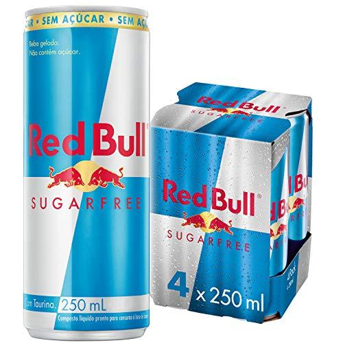 Energético sem Açúcar Red Bull Energy Drink Pack com 4 Latas de 250Ml