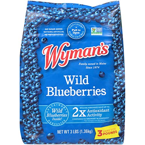 Wyman's of Maine, Wild Blueberries, 3 Pound (Packaging May Vary)