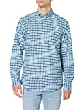 GANT REG Oxford 2 Col Gingham BD Camisa, Laguna Verde, L para Hombre