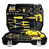 Ndash herramienta de mano de Kit + Juego de dados 108Pc;Kit de herramientas combinado Herramientas for trabajo pesado de almacenamiento Fundas Hardware Repair Tool Box Set Inicio Carpintería Electrici
