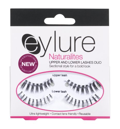 Eylure Faux-cils Naturalites Upper and Lower Lashes with 3 ml Lashfix Latex Based Glue Choppy Black