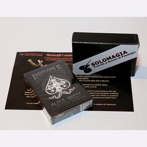 SOLOMAGIA Kartenspiel Bicycle Black Ghost von Ellusionist - Kartenspiele - Zaubertricks und Magie