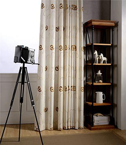 GQAI Moderne VerdunkelungsvorhäNge FüR Wohnzimmer Schlafzimmer Vorhangstoffe Fertige FertigvorhäNge,Brown,300 * 260cm