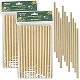 Eco Natural 200 Pajitas de Papel Desechables, 100% Ecológico, Reciclable y Biodegradable,...