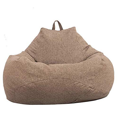 Puf de pera para adultos y niños, diseño clásico, puf de pera para interior y exterior, puf sin relleno, grande, funda puf de pera, color marrón