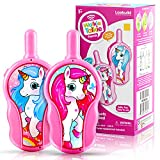 LAEBUILD Unicorn Toys Walkie Talkies for Kids, Toddler Child Birthday Gift for 3 4 5 6 - 12 Year Old Girls Boys, Baby Walky Talky Language Role Play Puzzle Game (2 Pack Pink)