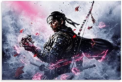 """ZRRTTG Lienzo Pintura Al óLeo Jin Sakai PNG para decoración de Porche Poster Y Estampados Arte Cuadros 11.8""""x19.7""""(30x50cm) Sin Marco"""