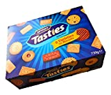 McVitie's Tasties Selection Assortment Biscuit Box | 8 Varieties | 70 Biscuits | Milk Chocolate Digestive | Bourbon | Fruit Shortbreads | Custard Creams | Jam Rings | Shortcake | Nice | Digestives