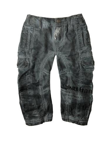 John Galliano Baby Printed Cargo Pant, Grey, 6 Months