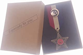 Commemorative Souvenir Badge Army Anniversary Five-Pointed Star Red